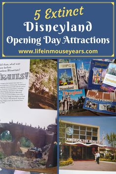 There have been so many changes to Disneyland since the park opened in 1955. Therefore, I thought that it would be interesting and fun to share what attractions were at Disneyland in 1955 and which attractions no longer exist. www.lifeinmouseyears.com #lifeinmouseyears #disneyland #extinctattractions #disneyopening #1955disney Disneyland Opening Day, Disneyland Resort, Attraction, Travel Tips, Rainbow, Thoughts, Group, Park, Nature