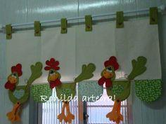 moldes de gallinas para cortina de tela - Buscar con Google
