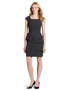 50% OFF - Calvin Klein Women's Cap Sleeve Pleated Front Dress.     List Price: $128.00     Price:  $64.00
