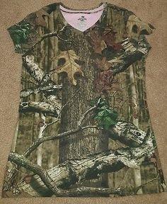 Women's Mossy Oak tee shirt Break up infinity small 4/6