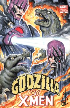 """It was """"Godzilla"""" vs. """"X-Men"""" - and the monster lost! The Marvel mutants beat the Japanese monster (ironically, """"Quicksilver and the Scarlet Witch"""" from """"Avengers"""" appeared in """"Godzilla"""" while another actor played Quicksilver in """"X-Men,"""" especially in a """"Matrix"""" scene with a Jim Croce soundtrack)."""