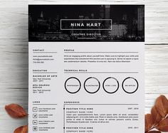 Creative Resume Template + Cover Letter Template For Word  Creative Director Resume