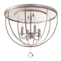 Orb Ceiling Mount - This might be a good pick for the chandelier given the low ceiling height.  See how you think it matches up with the pendant lights I posted for the bar area.
