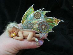 OOAK Clay Baby Fairy Art Doll Fantasy Film Wings No Reserve Steampunk Wings | eBay