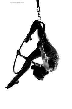 aerial hoop silhouette - Google Search
