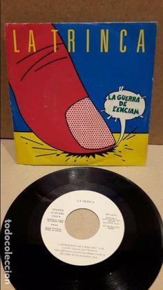 LA TRINCA. LA GUERRA DE L'ENCIAM. SINGLE-PROMO / ARIOLA - 1985 / MBC. ***/***