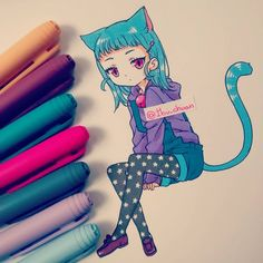 (Bic marker) Kurumi volvió como gato, prrr~ Gracias chicos, a todos por sus…