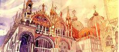 Arquitetura em aquarelas, por Maja Wronska