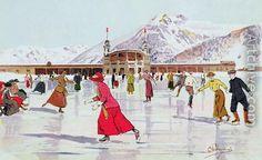 The Skating Rink in Davos, Switzerland - Carlo Pellegrini