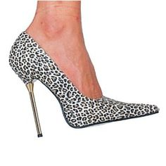 "Click on the image for more details! - BRAZIL-17, 5"" Pump Leopard Satin/Gold Heel Size 13 (Apparel)"