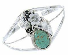 Turquoise Silver Southwest Jewelry Cuff Bracelet BW69017 SilverTribe. $79.99