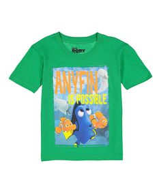 This Green Finding Dory 'Anyfin Is Possible' Tee - Kids by Evy of California is perfect! #zulilyfinds