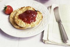 English muffin with strawberry jam - Simon Watson/Photolibrary/Getty Images