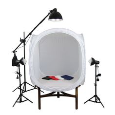 Photo Geeks - Photography Studio Light Tent Kit - 90cm | PhotoGeeks - TT2 | Product Lighting Cube, £79.95 (https://www.photogeeks.co.uk/photography-studio-light-tent-kit-90cm-photogeeks-tt2-product-lighting-cube/)
