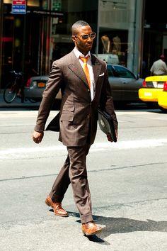 Dark Brown Suit Combinations | My Dress Tip