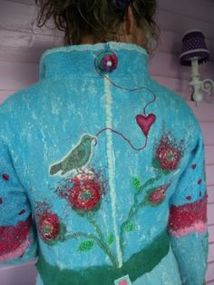 Felted coat made by Rozevilterije