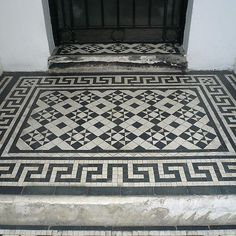 Victorian Front Garden, Greek Key, Mosaic Tiles, Murals, Restoration, Bohemian Rug, London, Photo And Video, House