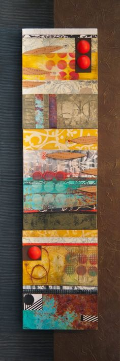 Gelli print collage