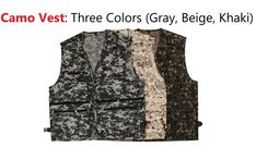 Camo Vest Multi Pocket Camera Outdoor Traveler Fishing Working Photography Hunt #LIZCO Camo Vest, Pocket Camera, Online Price, Gray Color, Fishing, Beige, Photography, Outdoor, Clothes