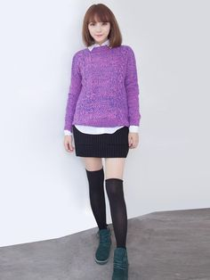 OL beauty routine ride, sweater and knit skirt echoes, whether visually or from the mix, very kind Oh!
