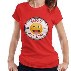 Winky Tongue Emoji All Star Converse Logo Women's T-Shirt