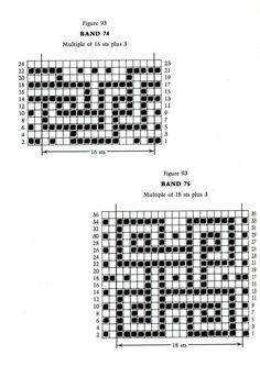 Mosaic Knitting Barbara G. Walker (Lenivii gakkard) Mosaic Knitting Barbara G. Slip Stitch Knitting, Knitting Charts, Double Knitting, Knitting Stitches, Knitting Patterns, Crochet Patterns, Intarsia Patterns, Mosaic Patterns, Stitch Patterns