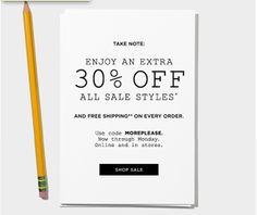 madewell note | email marketing