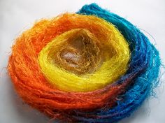 Silk is probably the most commonly used other fibre in felting. There are a variety of lightweight fabricswhich are perfect for nunofeltingor incorporating into surface design. The weight of sil…
