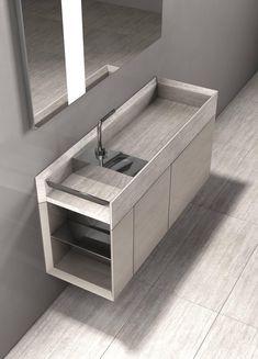 Salvatori Onsen Cabinet Basin and Sink by Rodolfo Dordoni Bathroom Spa, Bathroom Toilets, Bathroom Fixtures, Washroom, Modern Shower, Modern Bathroom, Bathroom Interior Design, Interior Decorating, Lavabo Design