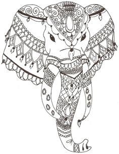 indian elephant draw - Pesquisa do Google