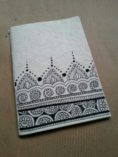 Diy notebook in rice paper. Zentangle design Uploaded by user