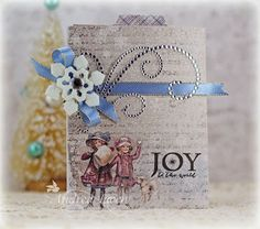 Holiday card by Andrea Ewen using Christmas Joy from Verve.  #vervestamps