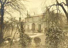 Undated photographs of Wentworth Place (front and back).  The semi-detached house in Hampstead occupied by the Brawne family and Keats and Charles Brown.