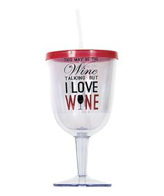 'I Love Wine' Glass