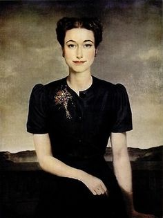 Portrait of Wallis by Gerald Brockhurst. 1939