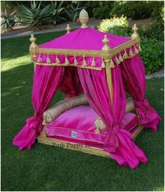 Luxury,Couture for your pet!http://Poshpuppyboutique.com  #PoshPuppy #DogLuxury #DogCouture #Springtime #DogBed #Dog #Pink