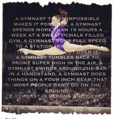 Don't even try and say gymnastics is not a sport Funny Gymnastics Quotes, Inspirational Gymnastics Quotes, Gymnastics Posters, Gymnastics Pictures, All About Gymnastics, Gymnastics Girls, Rhythmic Gymnastics, Gymnastics Things, Gymnastics Coaching