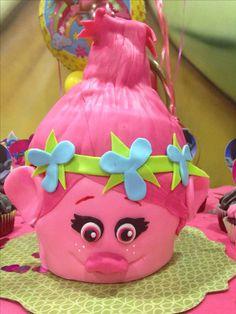 Poppy trolls giant cupcake idea