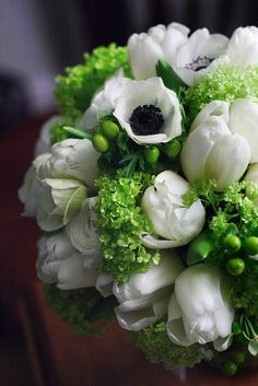 Anemone and Tulip Bouquet