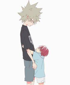 Todoroki Shouto x Bakugou Katsuki My Academia Hero, Hero Academia Characters, Chica Anime Manga, Kawaii Anime, Me Me Me Anime, Anime Guys, Gender Bender Anime, Familia Anime, Kids Around The World