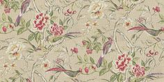 Lotus Blossom Paradise (1601/382) - Prestigious Wallpapers - An elegant all over wallpaper design featuring trailing lotus blossom's and love birds. Shown here in paradise. Other colourways are available. Please request a sample for a true colour match. Wide width product. Paste-the-wall product.