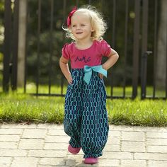 Baby Girls Corduroy Navy Teal Chain Romper