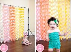 photography backdrop paper chain - Google Search