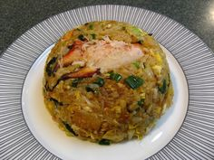 Abalone Sauce Stone Crab Fried Rice (鮑魚醬石蟹炒飯, Baau1 Jyu4 Zoeng3 Sek6 Haai5 Caau2 Faan6)