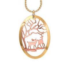 Deer Cut-out Necklace