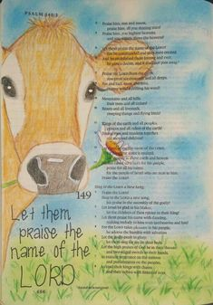 Psalm 148 Bible art journaling by @peggythibodeau www.peggyart.com
