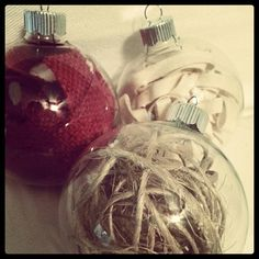 DIY Burlap and Twine Ornaments - Did these myself!