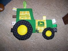 Taggie Toy John Deere Tractor Patchwork Crinkle Toy. $19.95, via Etsy.