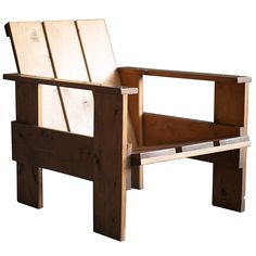 Gerrit Rietveld Crate Chair   From a unique collection of antique and modern armchairs at https://www.1stdibs.com/furniture/seating/armchairs/
