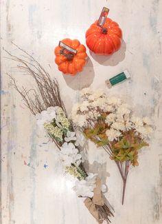 fall flower arrangement, fall flowers and pumpkin, diy fall flower arrangement, how to make a fall flower arrangement